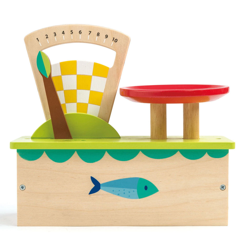 Tender Leaf Wooden Scale and Fruit - UrbanBaby shop