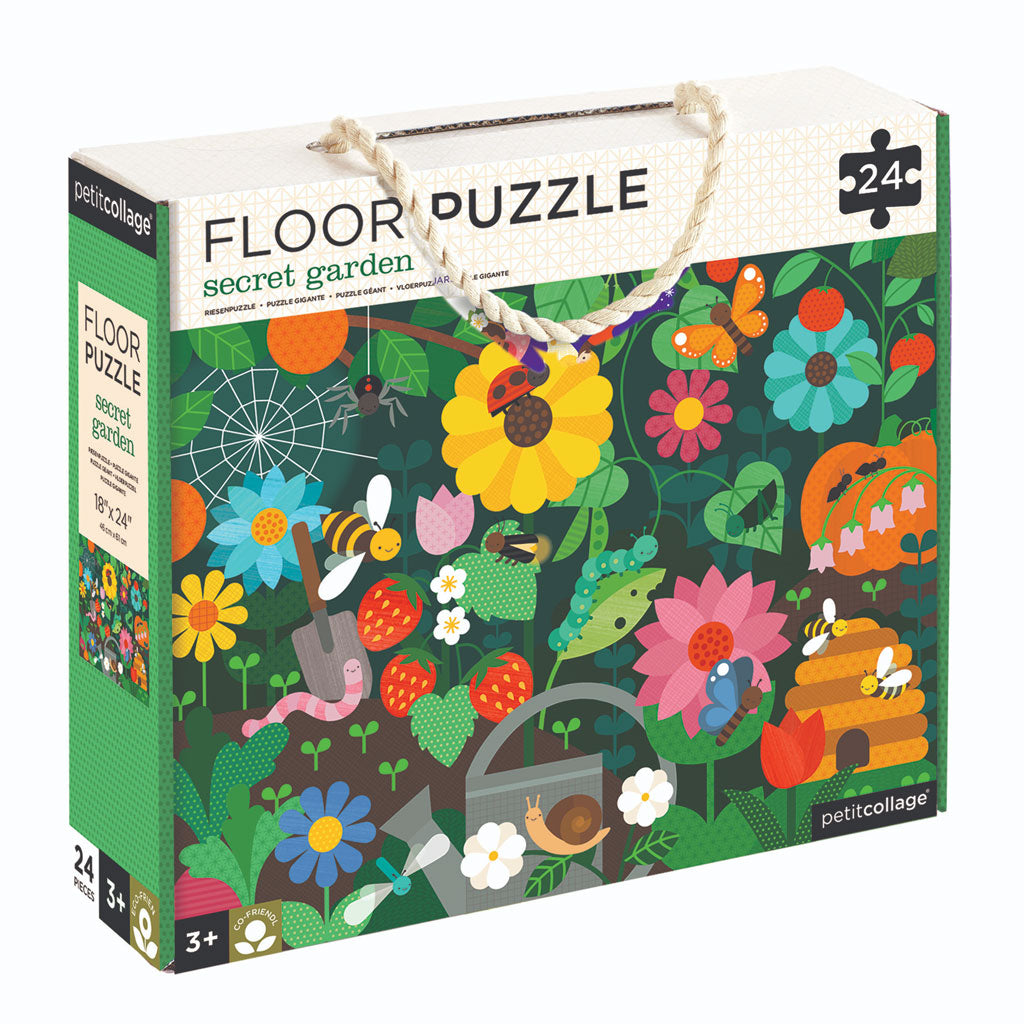 Petit Collage Floor Puzzle Secret Garden - UrbanBaby shop