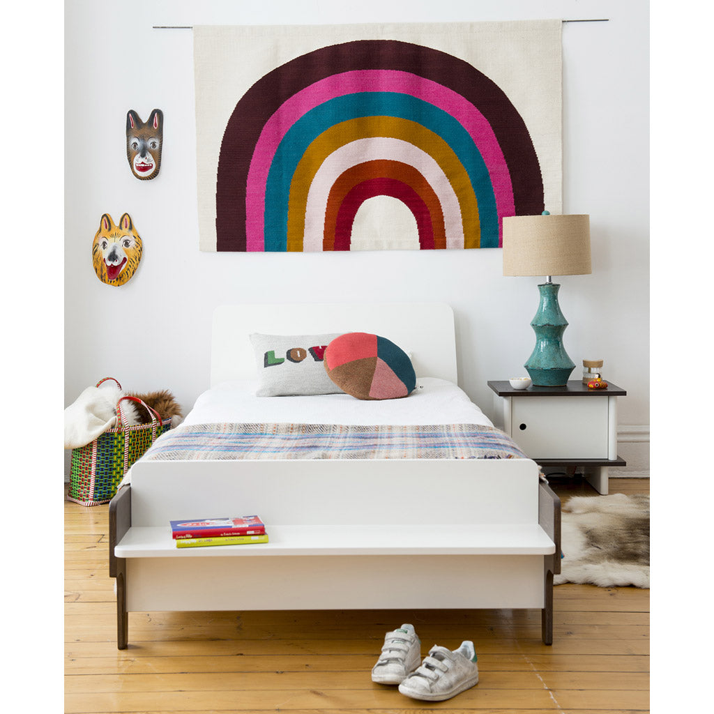 Oeuf River Single Bed - Walnut/White - UrbanBaby shop
