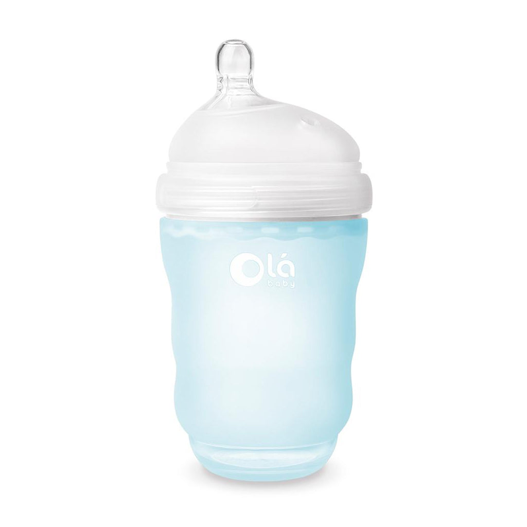 OlaBaby Silicone Gentle Bottle 240ml Sky