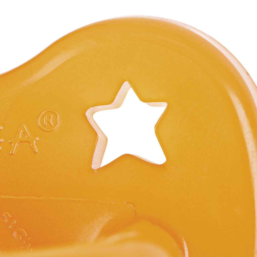 Hevea Baby Natural Rubber Anatomical Pacifier - Star and Moon