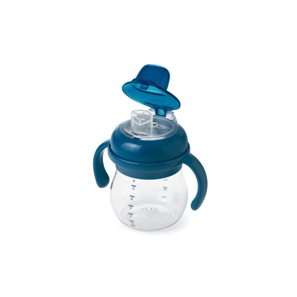 OXO tot Grow Soft Spout Cup 170ml Navy - UrbanBaby shop