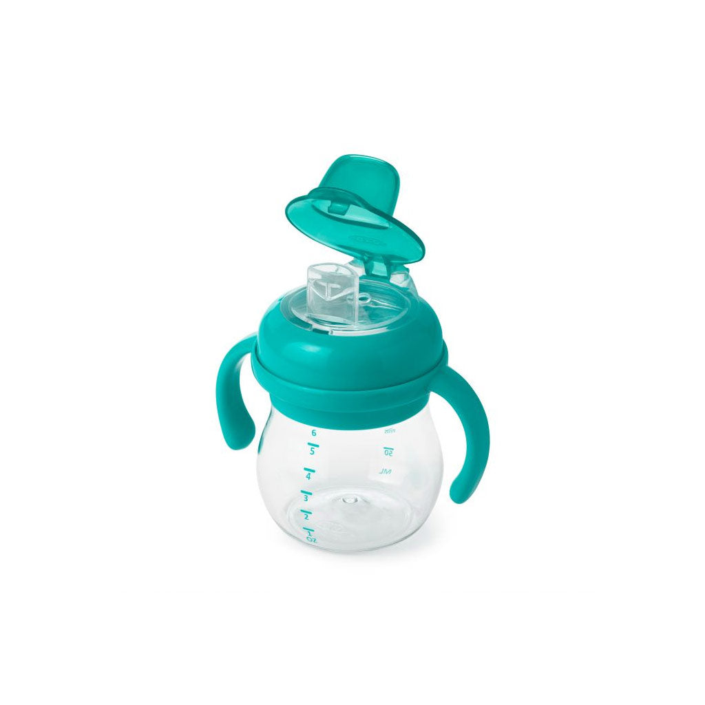 OXO tot Grow Soft Spout Cup 170ml Teal - UrbanBaby shop