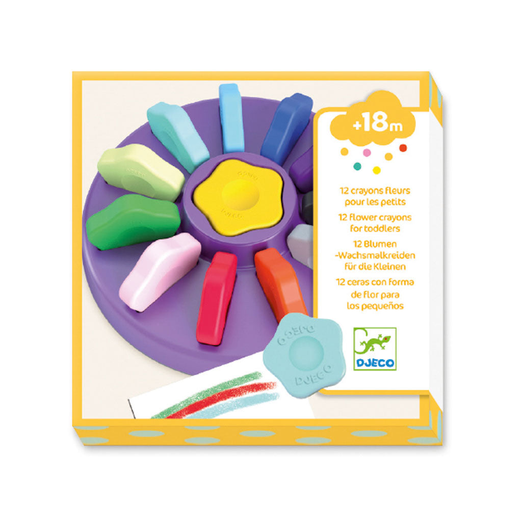 Djeco Toddler Flower Crayons - UrbanBaby shop