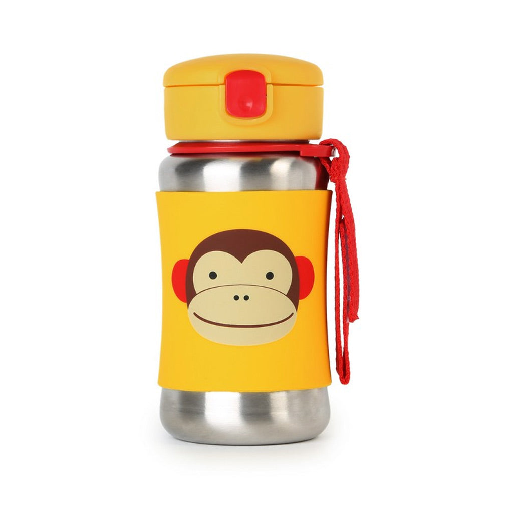 Skip Hop Zoo Stainless Steel Straw Bottle - Monkey