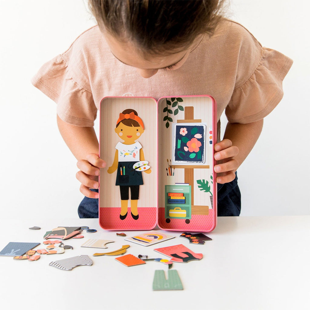 Petit Collage Travel Magnet Dress Up At the Studio - UrbanBaby shop