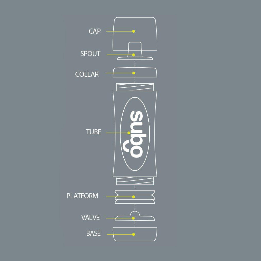 Subo Food Bottle - Grey - UrbanBaby shop