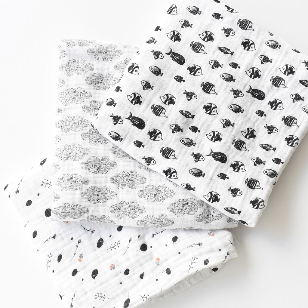 Wee Gallery Organic Muslin Swaddle Seedling - UrbanBaby shop