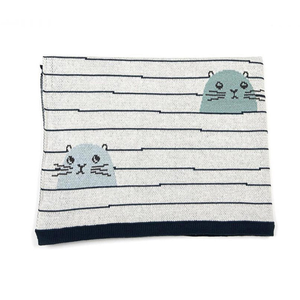 Indus Design Cotton Baby Blanket Sydney Seal
