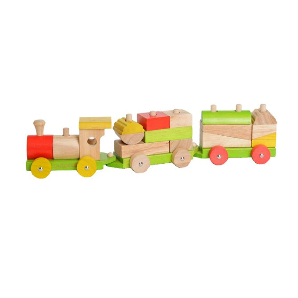 EverEarth Wooden Sorting Train Blocks