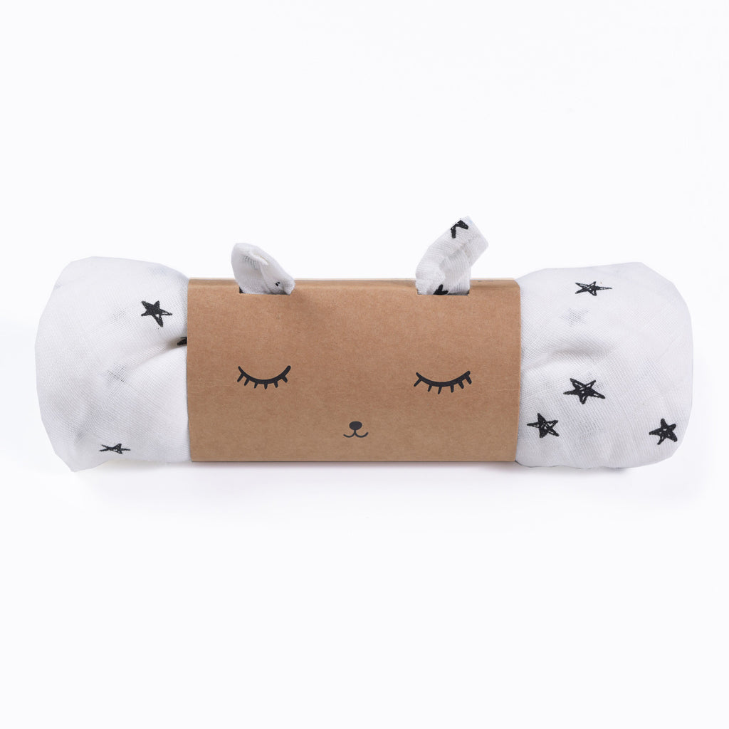 Wee Gallery Organic Muslin Swaddle - Stars - UrbanBaby shop