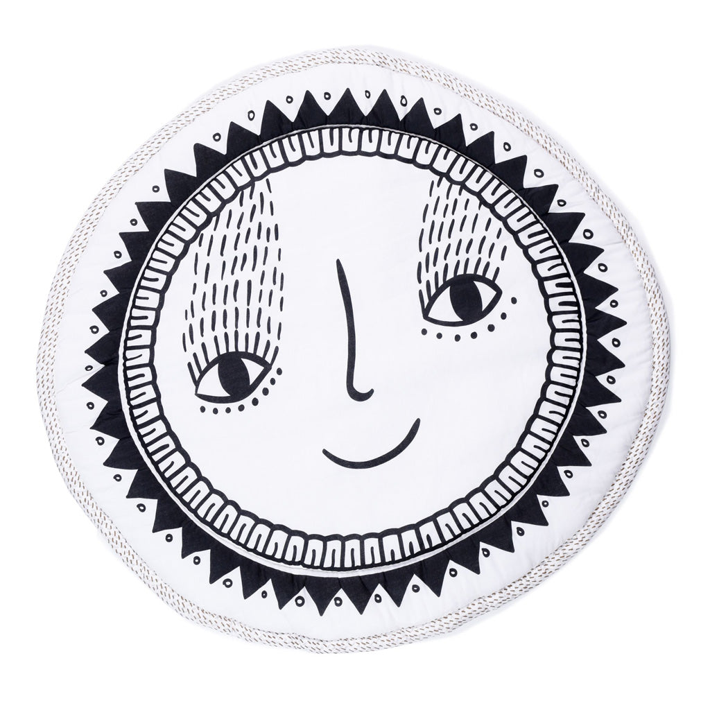 Wee Gallery Organic Cotton Round Play Mat Sunshine - UrbanBaby shop