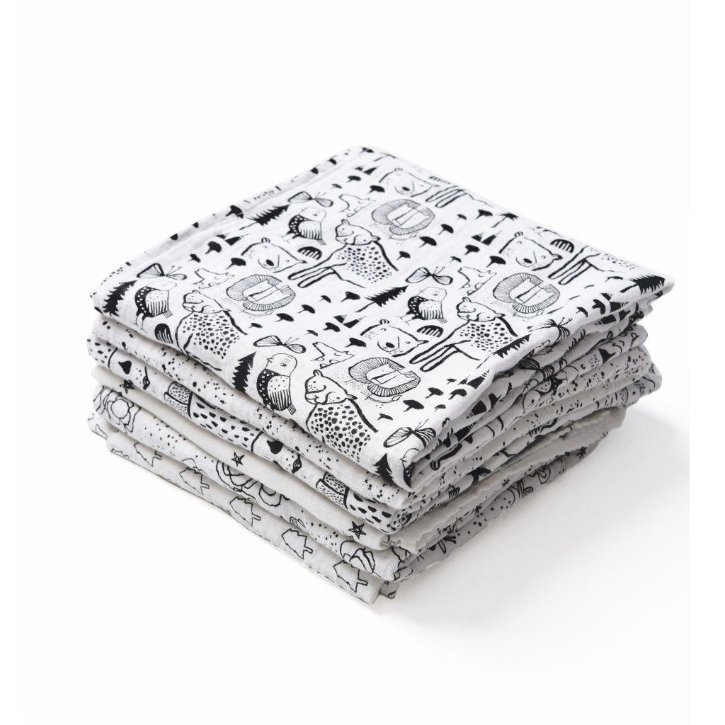Wee Gallery Organic Muslin Swaddle Splatter - UrbanBaby shop