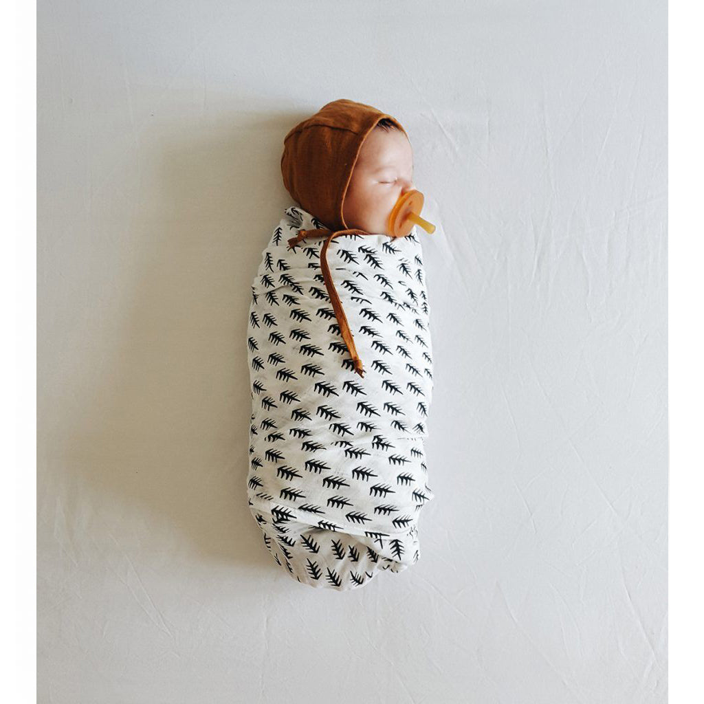 Wee Gallery Organic Muslin Swaddle Forest