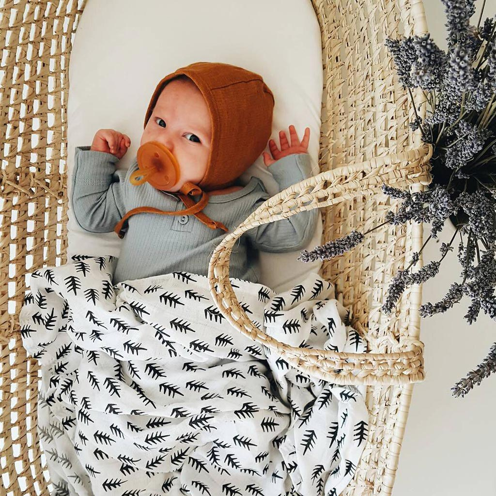 Wee Gallery Organic Muslin Swaddle - Trees - UrbanBaby shop