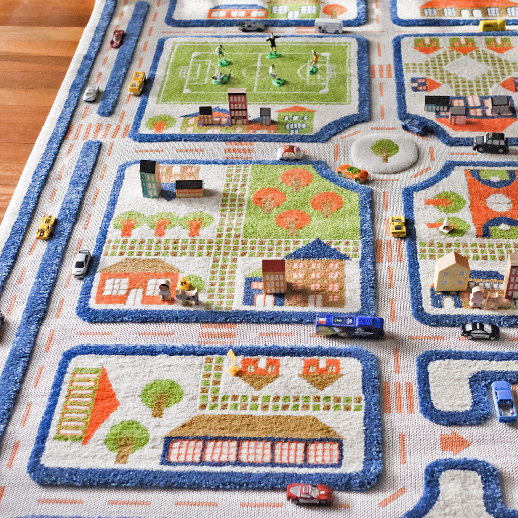 IVI Interactive Play Rug Traffic Blue Medium