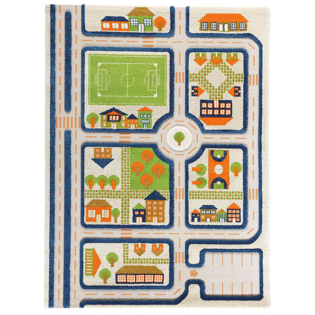 IVI Interactive Play Rug Traffic Blue Large
