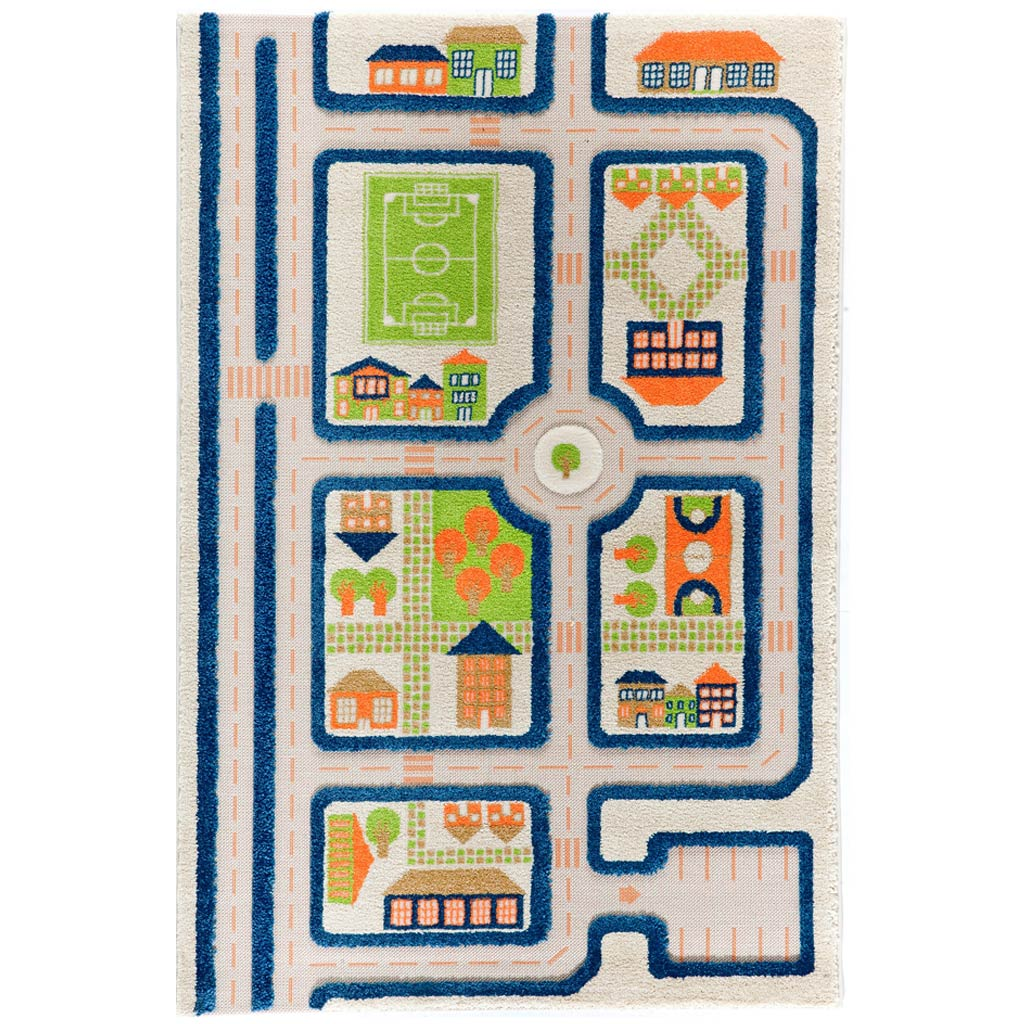IVI Interactive Play Rug Traffic Blue Medium - UrbanBaby shop