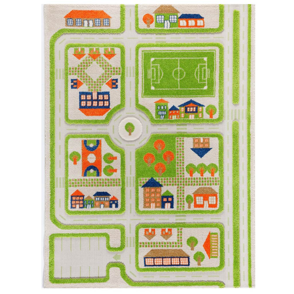 IVI Interactive Play Rug Traffic Green Large - UrbanBaby shop