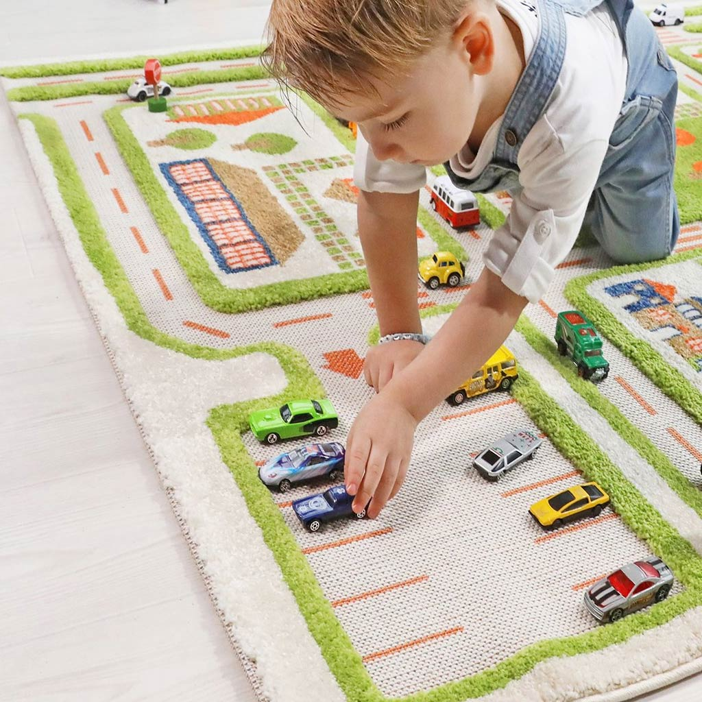 IVI Interactive Play Rug Traffic Green Large