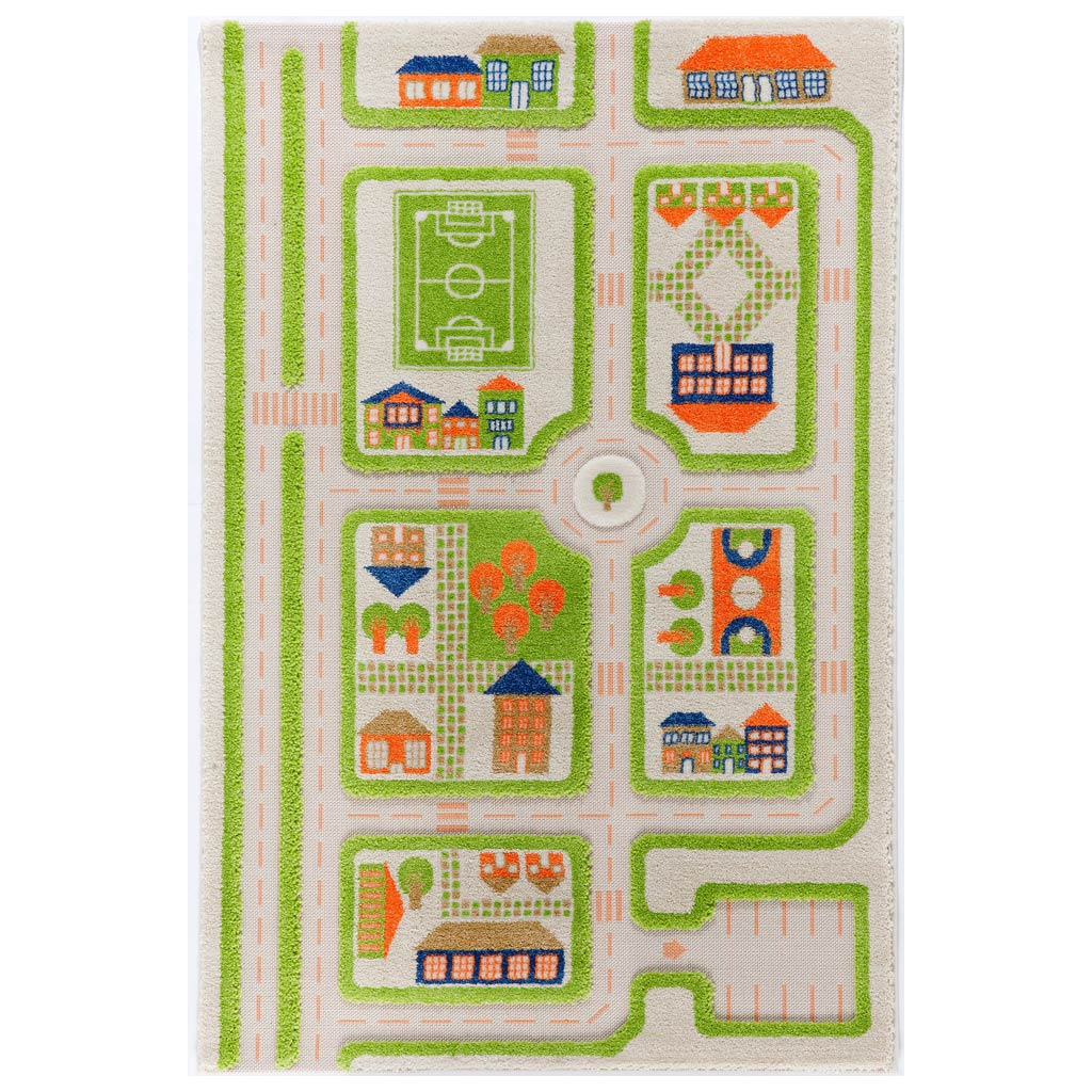 IVI Interactive Play Rug Traffic Green Medium