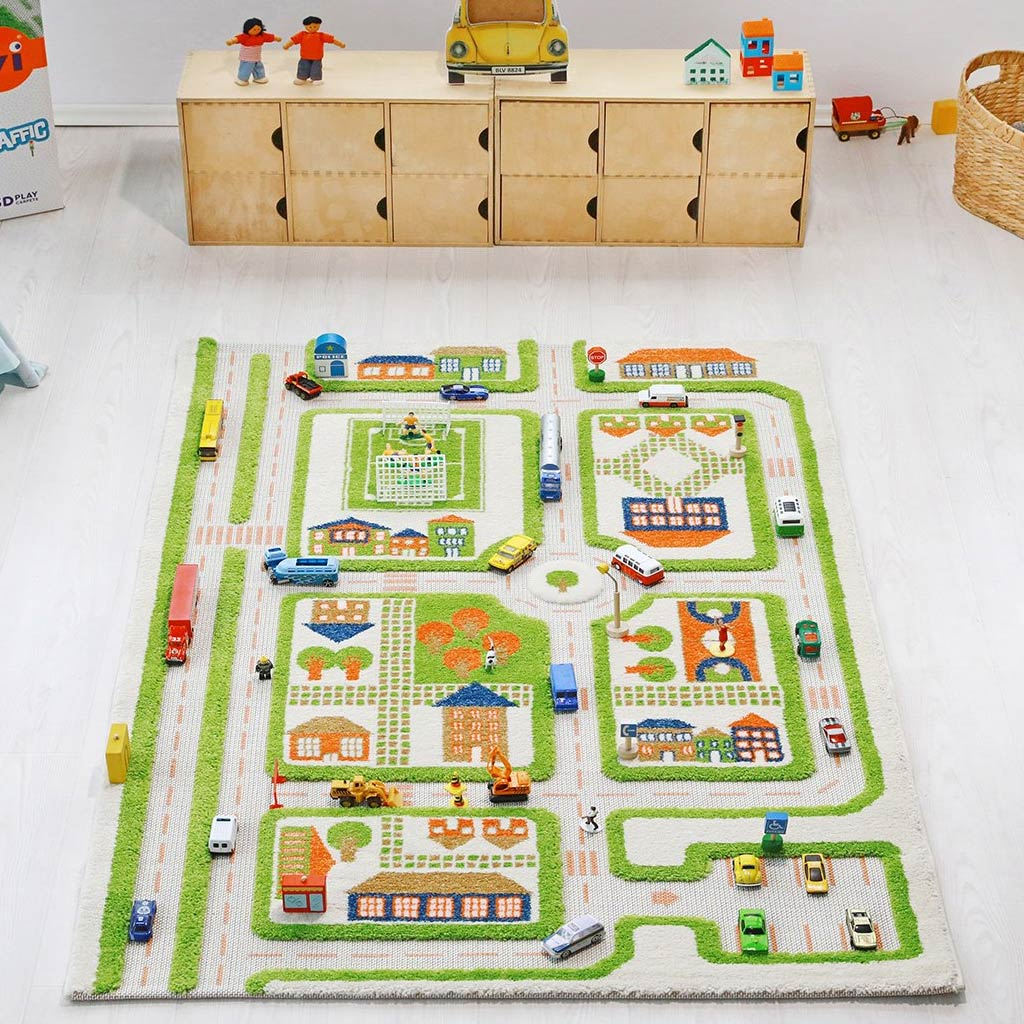 IVI Interactive Play Rug Traffic Green Medium - UrbanBaby shop