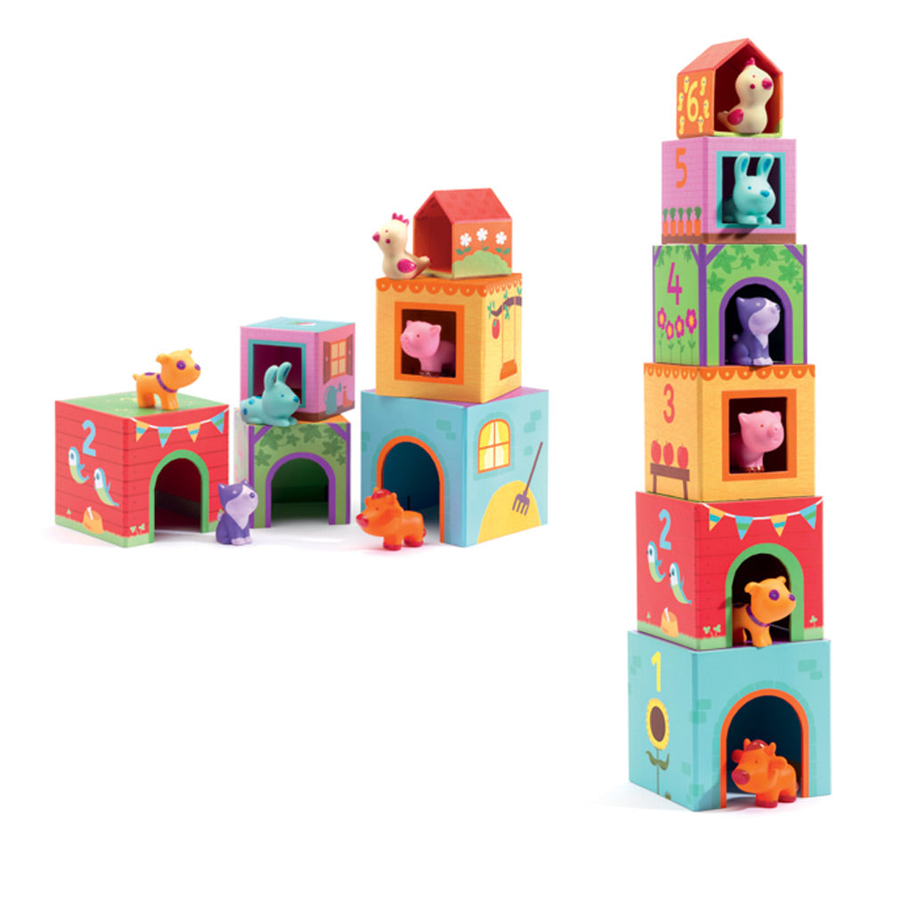 Djeco Stacking Game Topanifarm - UrbanBaby shop