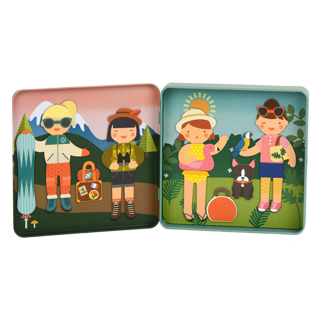 Petit Collage On The Go Magnet Tin - Little Travelers