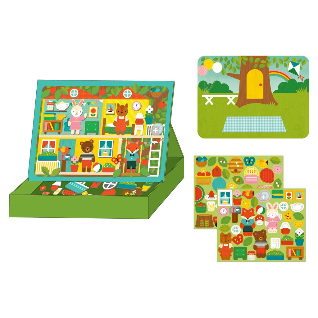 Petit Collage Magnetic Play Treehouse party - UrbanBaby shop