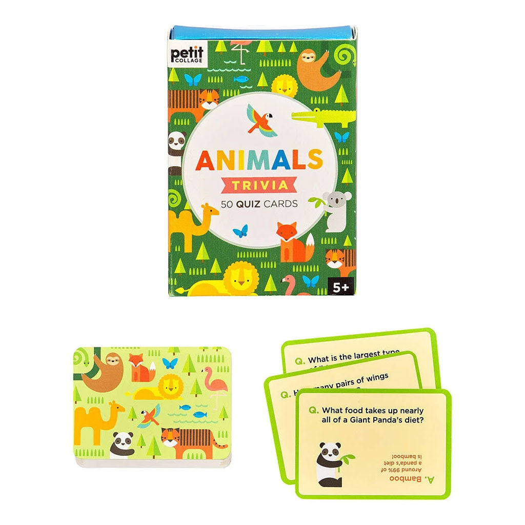 Petit Collage Trivia Cards - Animals - UrbanBaby shop
