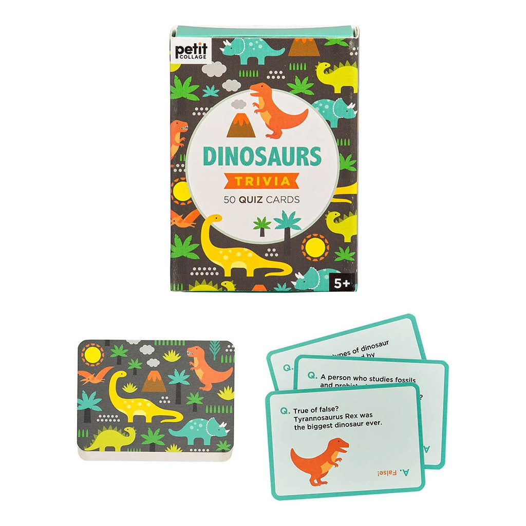 Petit Collage Trivia Cards - Dinosaurs