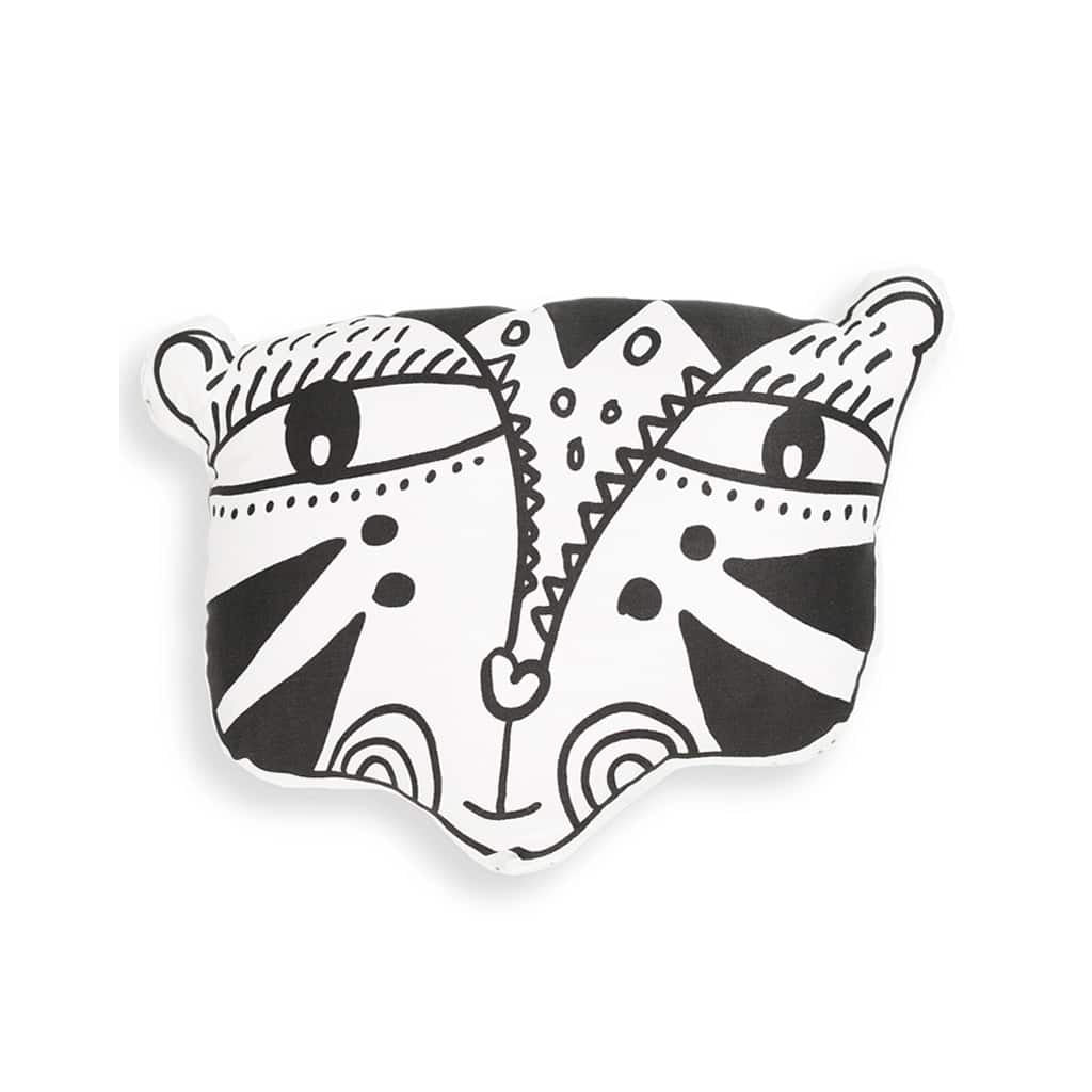 Wee Gallery Nursery Friends Throw Pillow Tiger - UrbanBaby shop