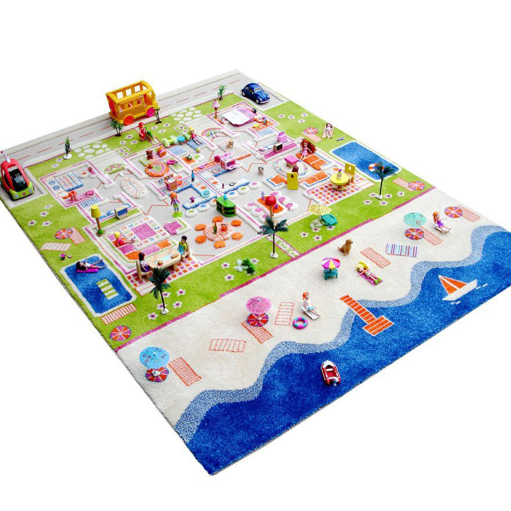 IVI Interactive Play Rug Twin Houses Large - UrbanBaby shop