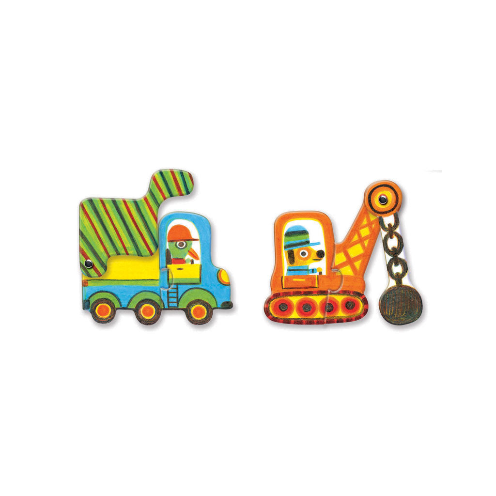 Djeco Duo Puzzle Vehicles - UrbanBaby shop