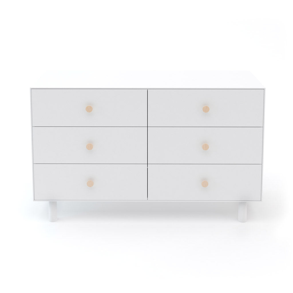 Oeuf Merlin 6 Drawer Dresser for Fawn - White - UrbanBaby shop