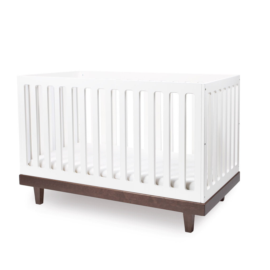 Oeuf Arbor Cot - White with Walnut - UrbanBaby shop