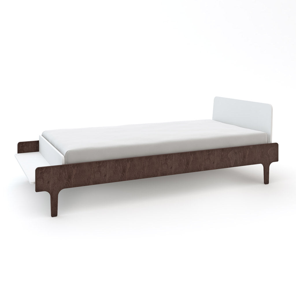 Oeuf River Single Bed - Walnut/White