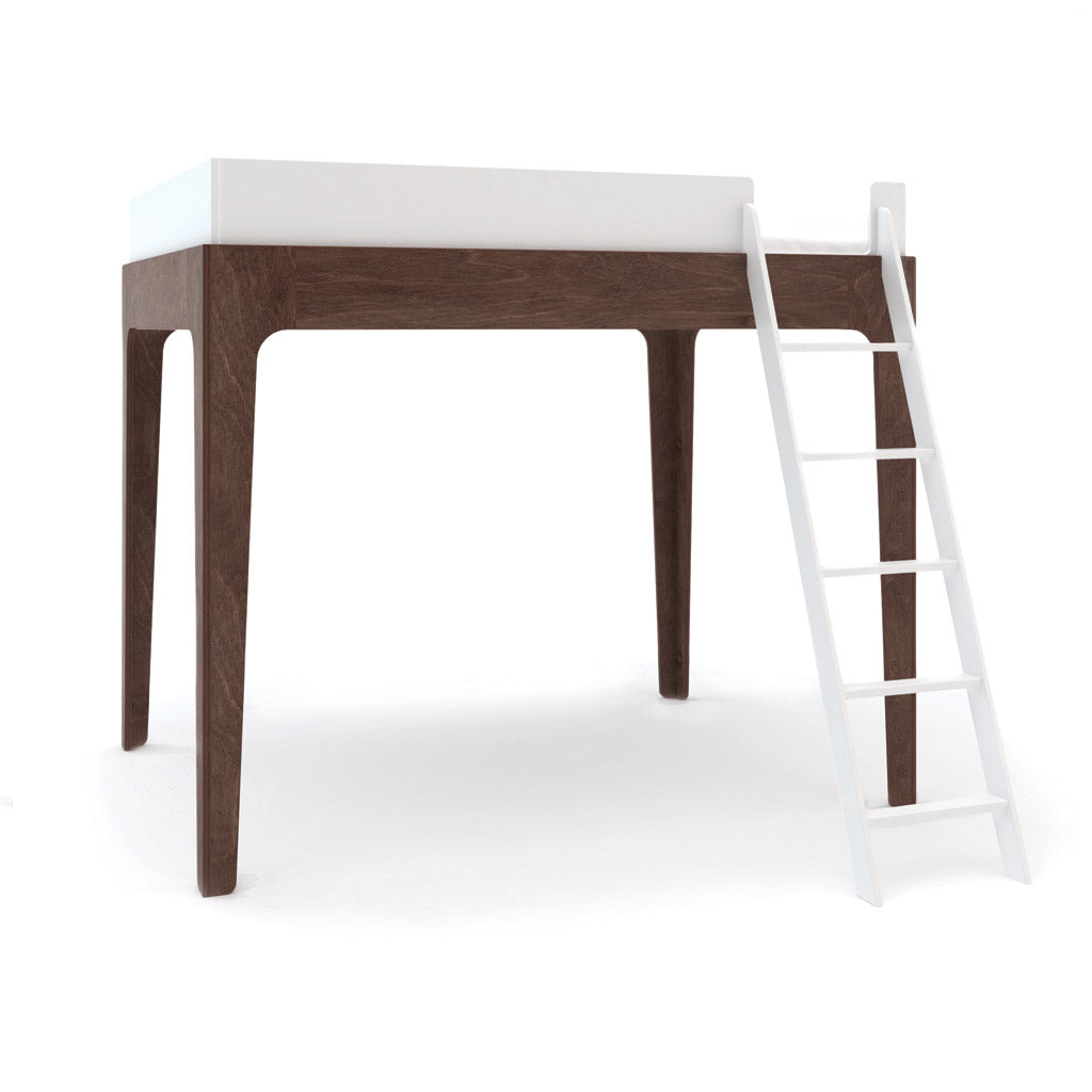 Oeuf Perch Double Loft Bed - Walnut/White - UrbanBaby shop