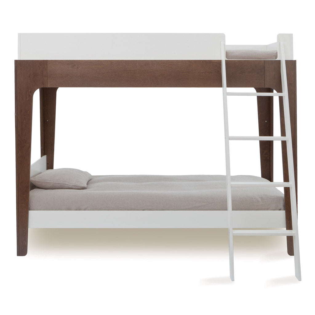 Oeuf Perch Single Bunk Bed - Walnut/White - UrbanBaby shop