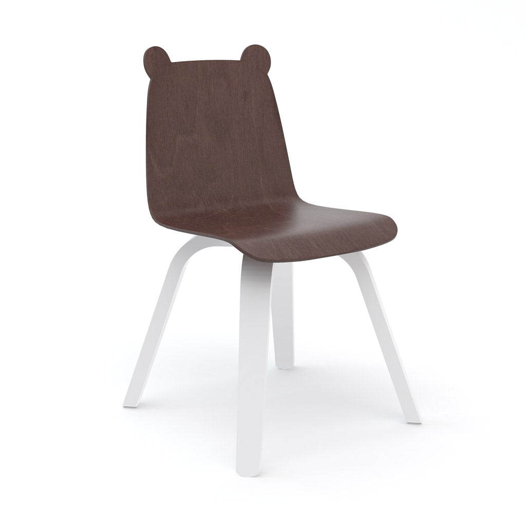 Oeuf Bear Play Chair Set of 2 - Walnut/White - UrbanBaby shop