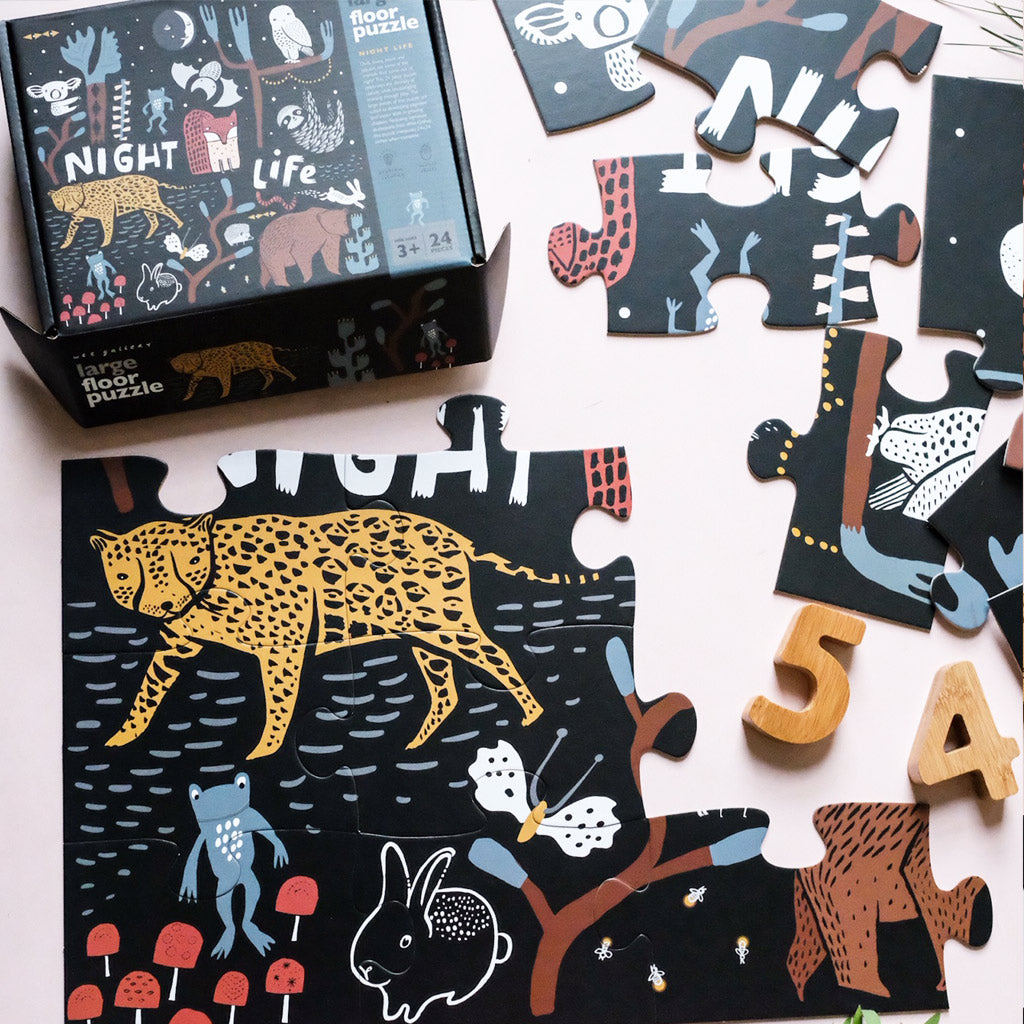Wee Gallery Floor Puzzle Night Life - UrbanBaby shop