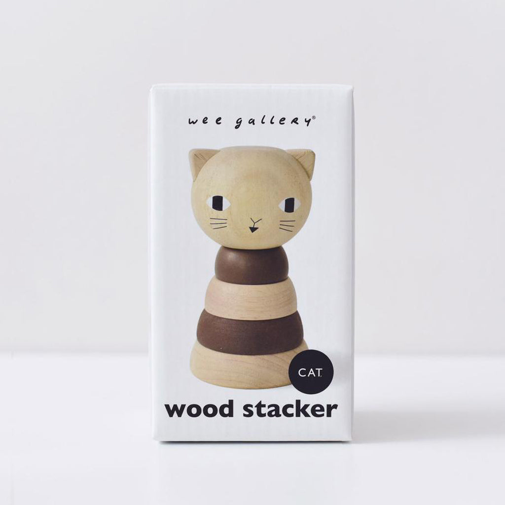 Wee Gallery Wood Stacker - Cat - UrbanBaby shop