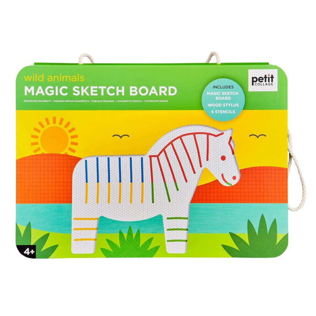 Petit Collage Magic Sketch Board - Wild Animals - UrbanBaby shop