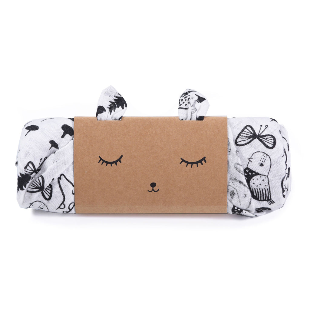 Wee Gallery Organic Muslin Swaddle Wild - UrbanBaby shop