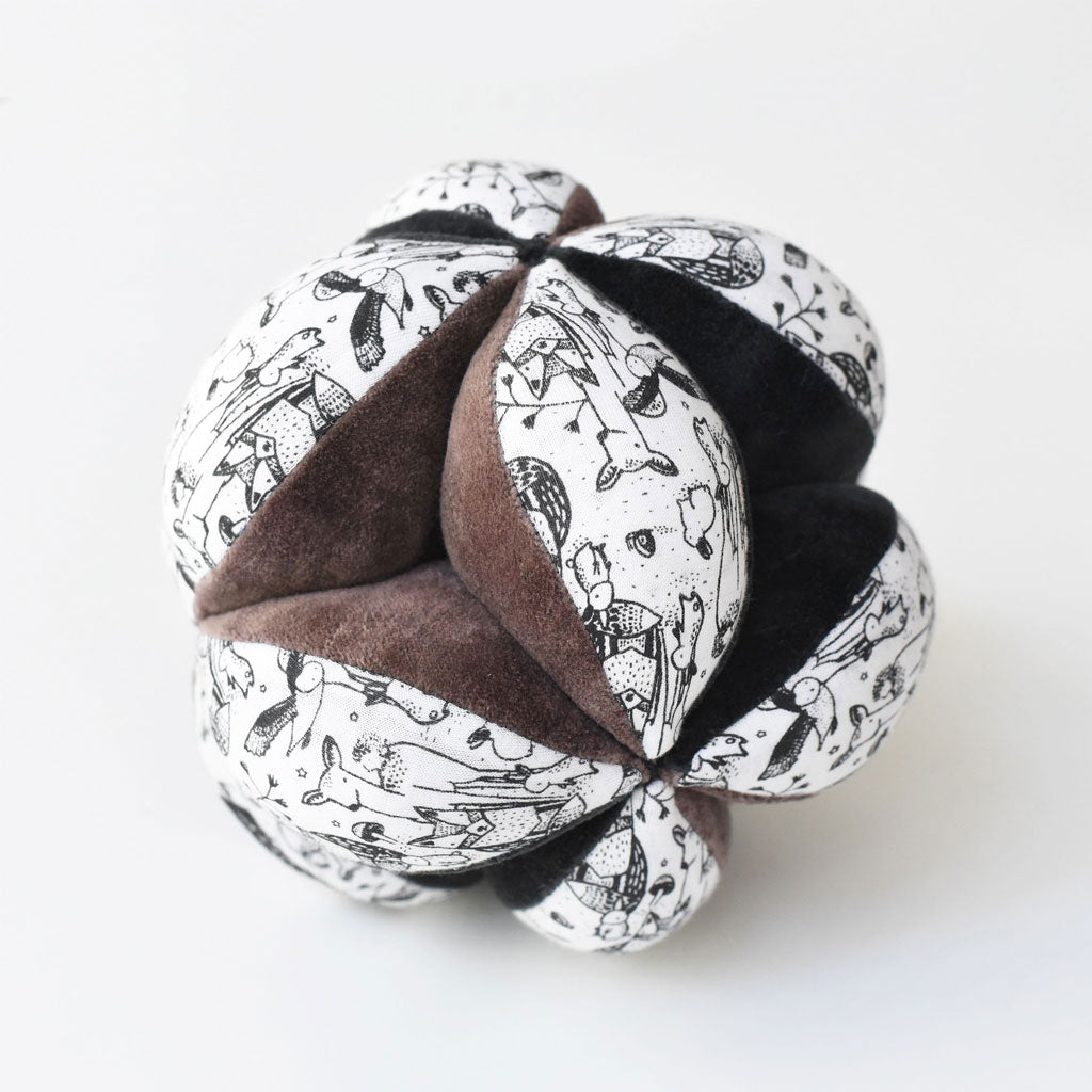 Wee Gallery Organic Sensory Puzzle Ball - Woodland - UrbanBaby shop