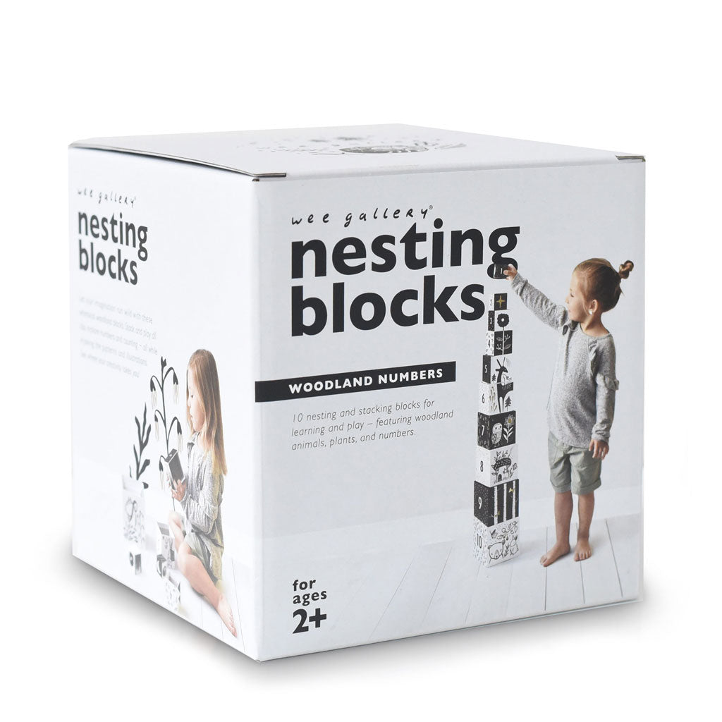 Wee Gallery Nesting Blocks Woodland Numbers - UrbanBaby shop