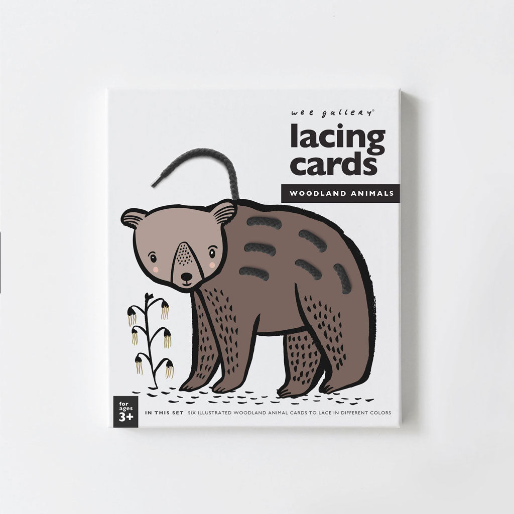 Wee Gallery Lacing Cards Woodland Animals - UrbanBaby shop