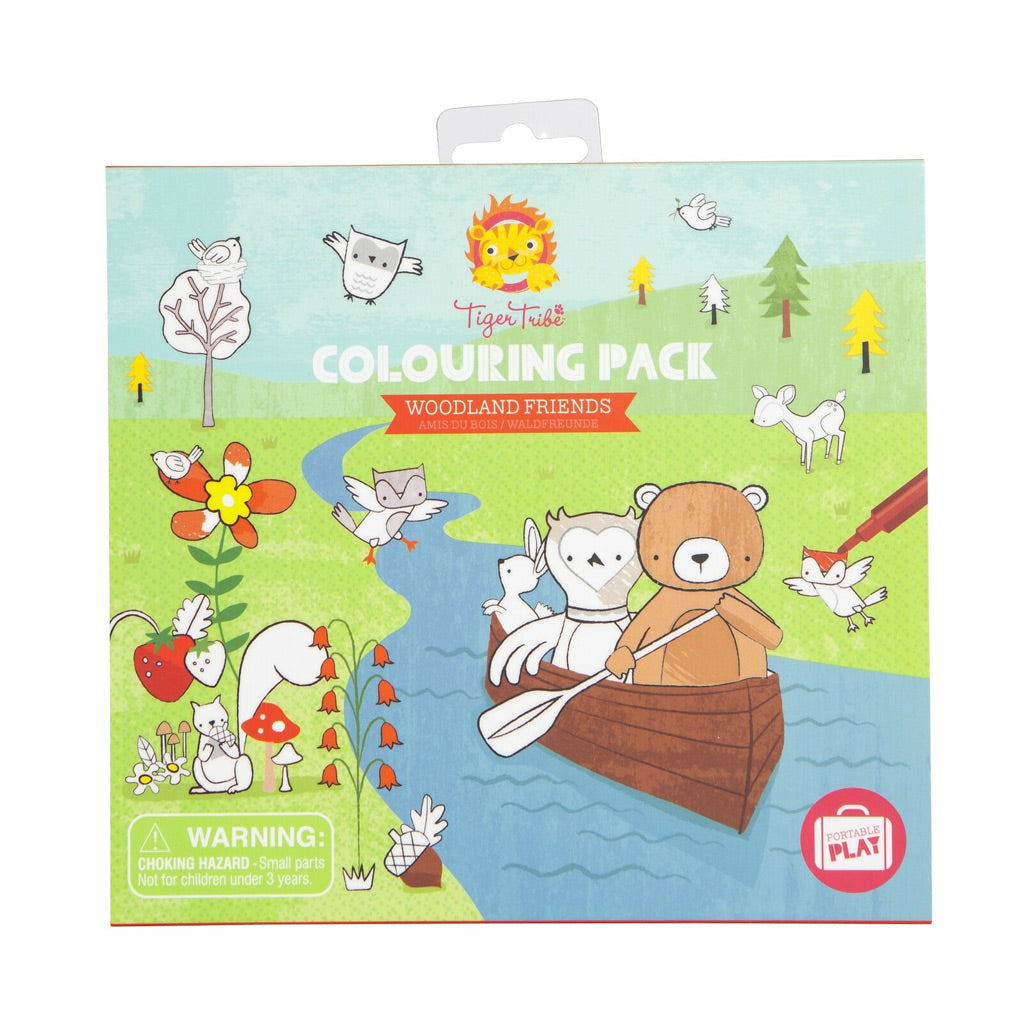 Tiger Tribe Colouring Pack - Woodland Friends - UrbanBaby shop