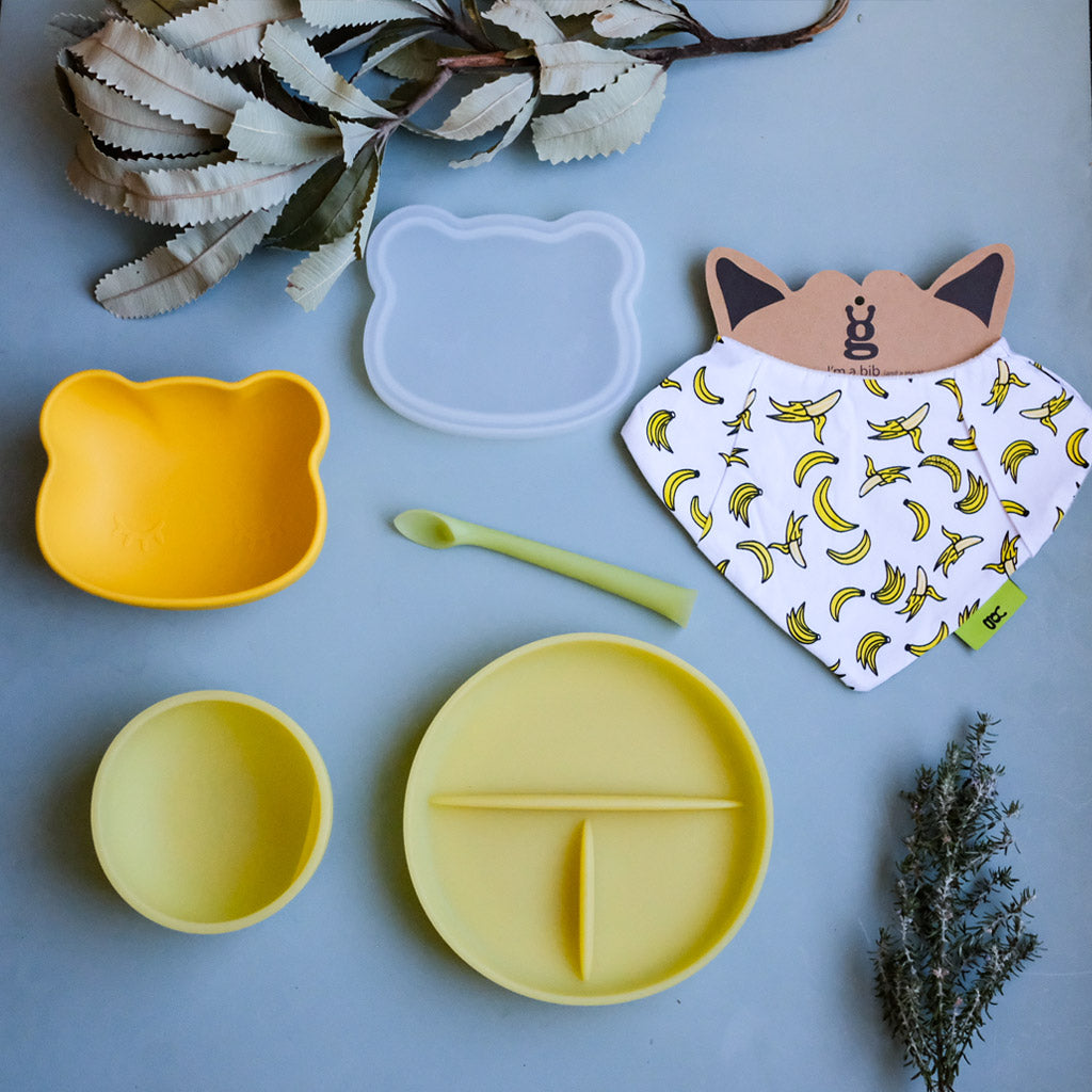 We Might Be Tiny Bear Stickie Bowl and Lid - UrbanBaby shop