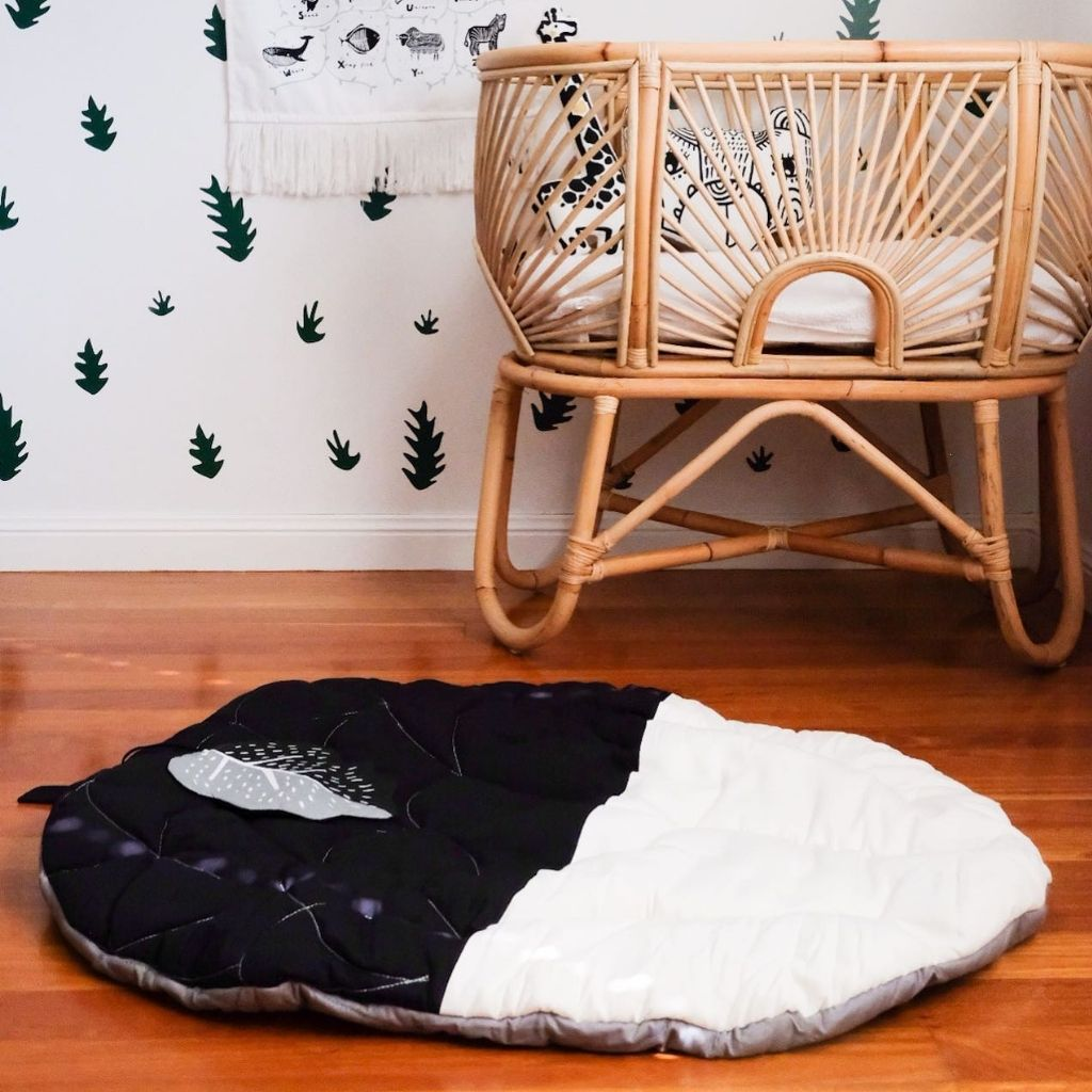 Wee Gallery Organic Cotton Play Mat Acorn - UrbanBaby shop